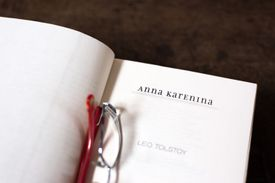 Open Book, Title Page: Anna Karenina, Leo Tolstoy