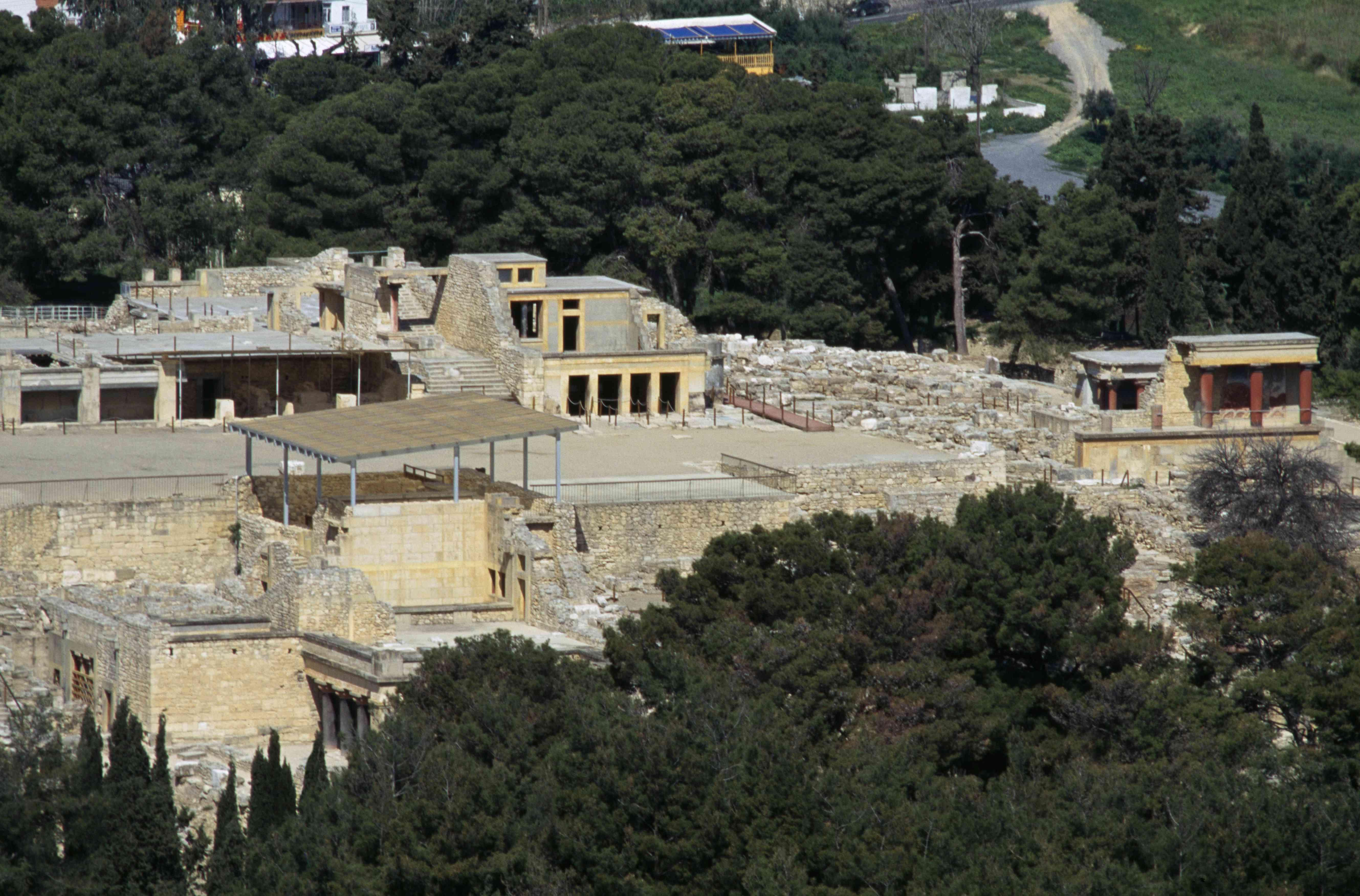 View of Palace of Knossos, Crete, Greece, Minoan civilization, 18th-15th century BC