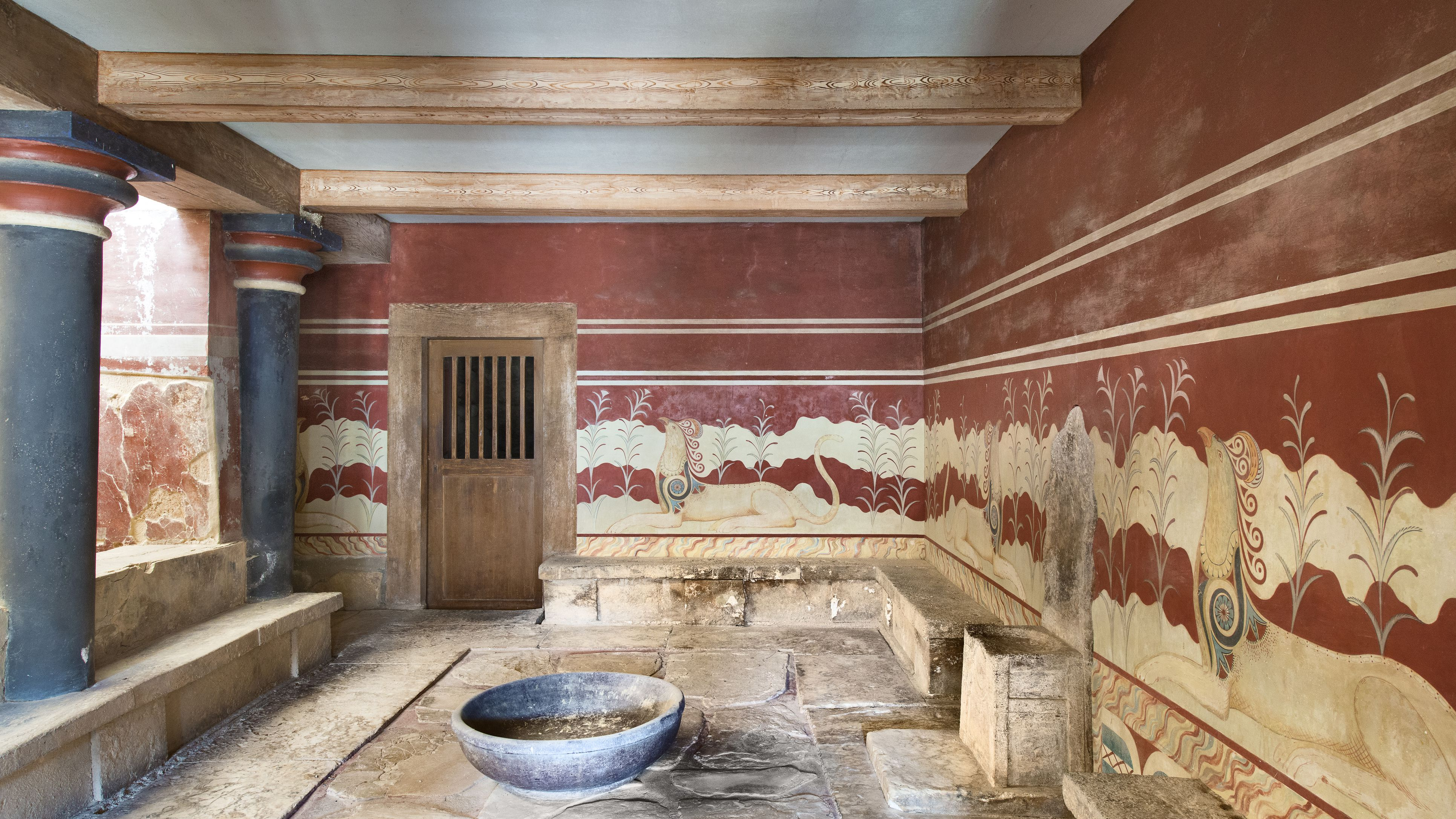 The Palace of Minos at Knossos in Ancient Crete