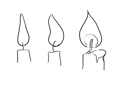 3 Ways To Draw Candle Flames