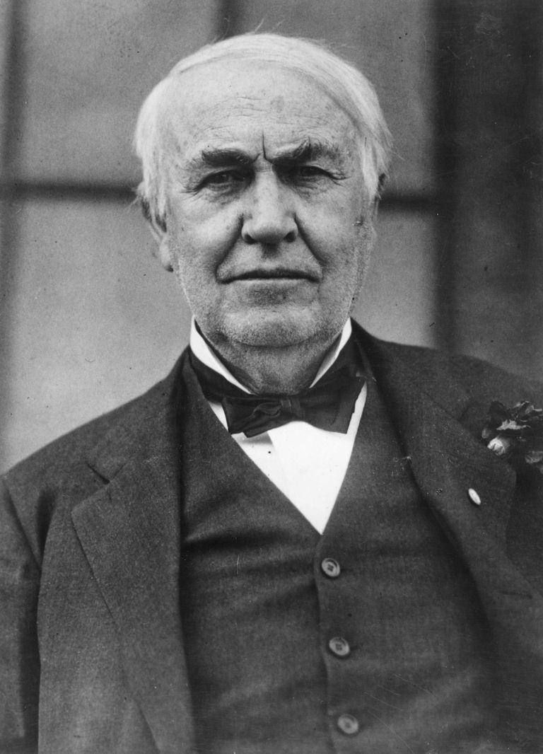 A picture of inventor and scientist Thomas Edison.
