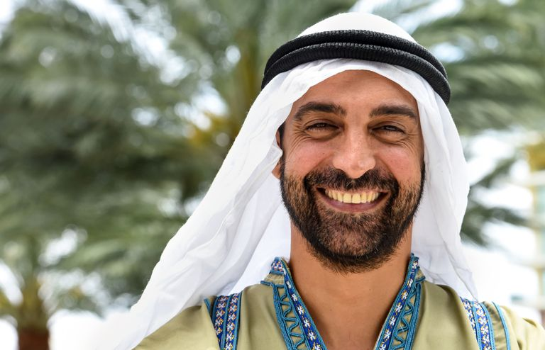 Smiling Middle Eastern man