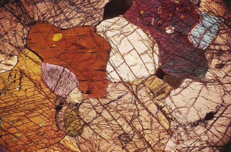 Oxidation turns this peridotite to different tones of red