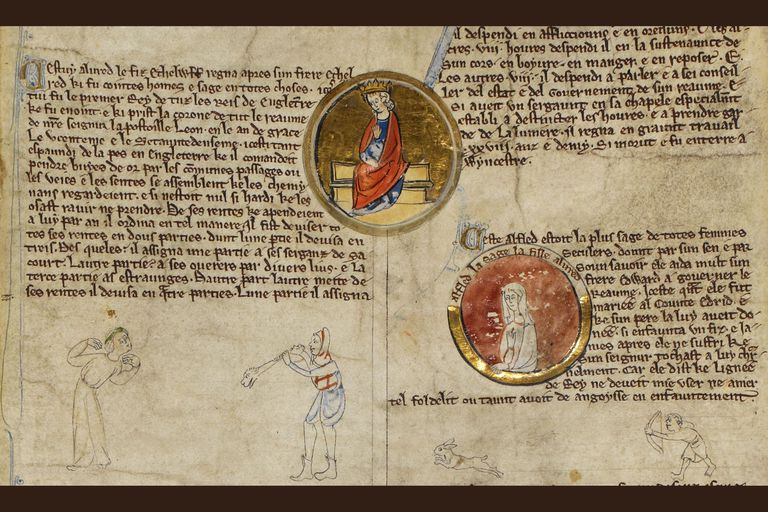 Alfred the Great and Æthelflæd, 13th century