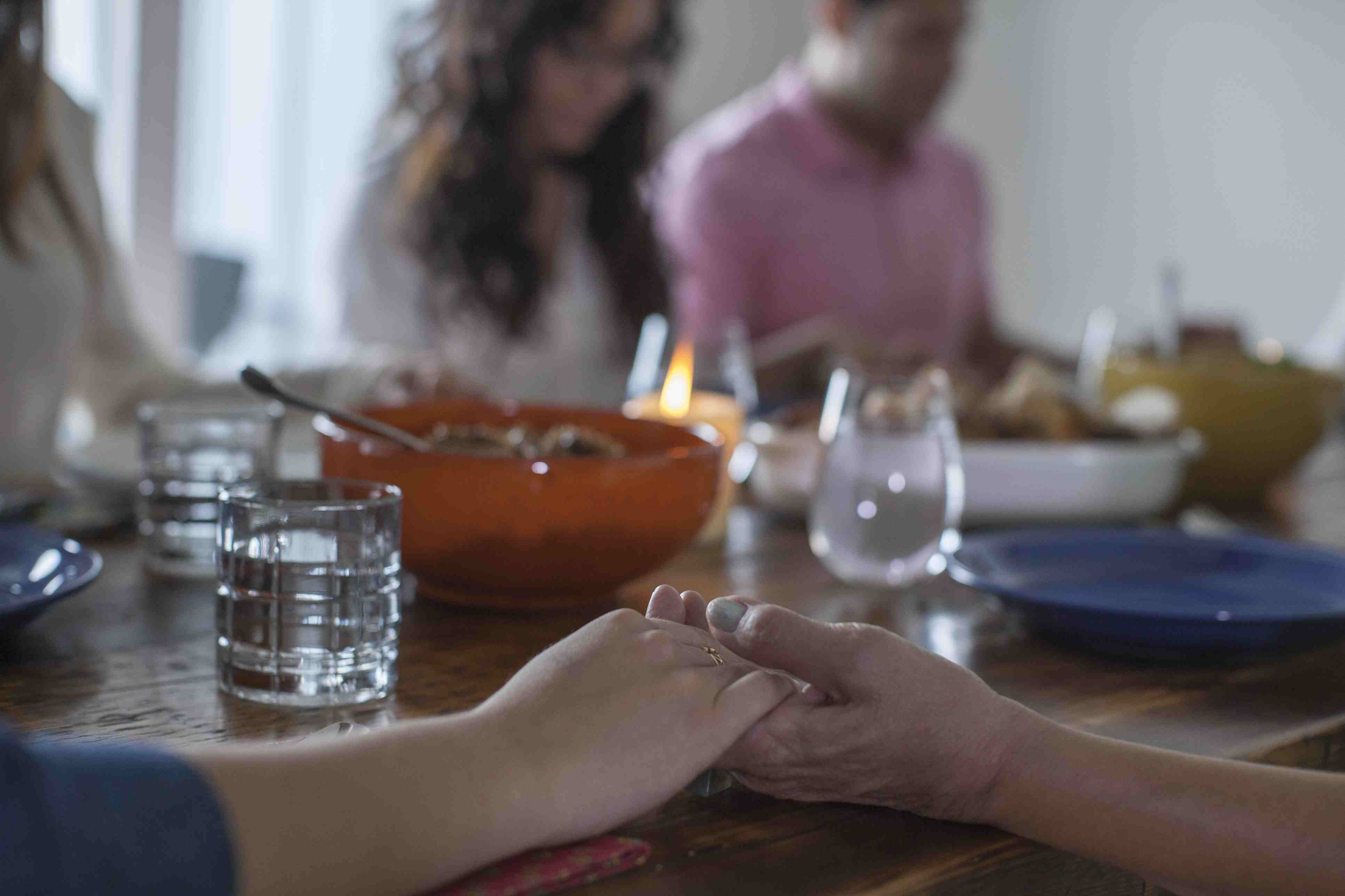 All About Old Woman Praying At Dinner Table Daily Bread Religious