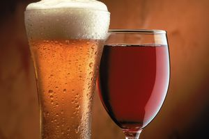 The liquids may look like water, wine, milk, and beer, but don't drink them.