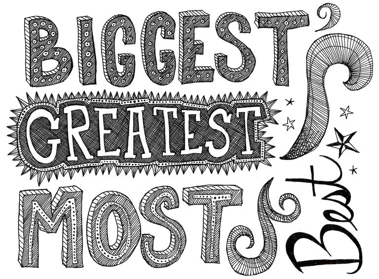 <i>Biggest</i> is the superlative form of <i>big</i>. <i>Greatest</i> is the superlative form of <i>great</i>. <i>Most</i> is the superlative form of <i>much</i> or <i>many</i>. And <i>best</i> is the superlative form of <i>good</i> or <i>well</i>