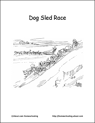 iditarod coloring pages for kid - photo#13