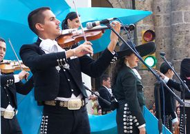 mariachis performing