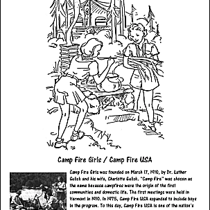 Camp Fire USA Coloring Page