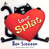 Cover art of Love, Splat a children's Valentine's Day picture book about Splat the Cat