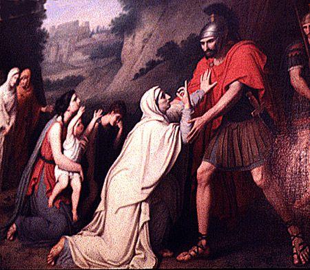 Veturia plädiert für Coriolanus von Gaspare Landi (1756 - 1830)
