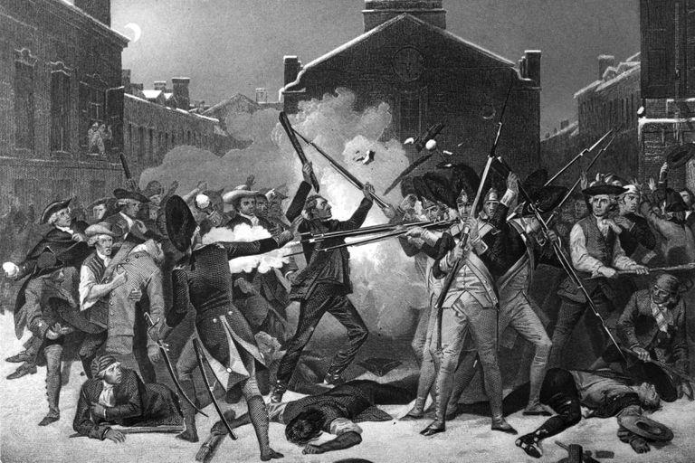 Engraving of the Boston Massacre by Paul Revere