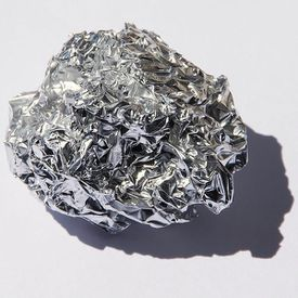 A mass of aluminum, the most abundant element in the Earth's crust