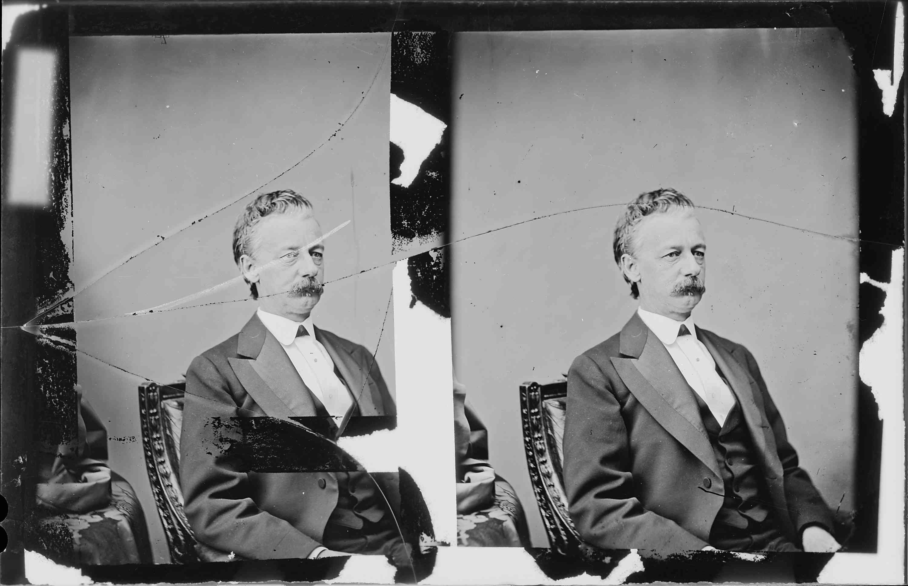 Two photos of General Henry Slocum