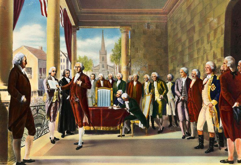 George Washington's inauguration in New York City