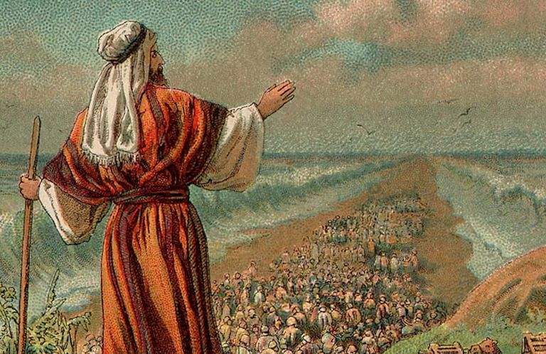 Illustration of The Exodus from Egypt, 1907