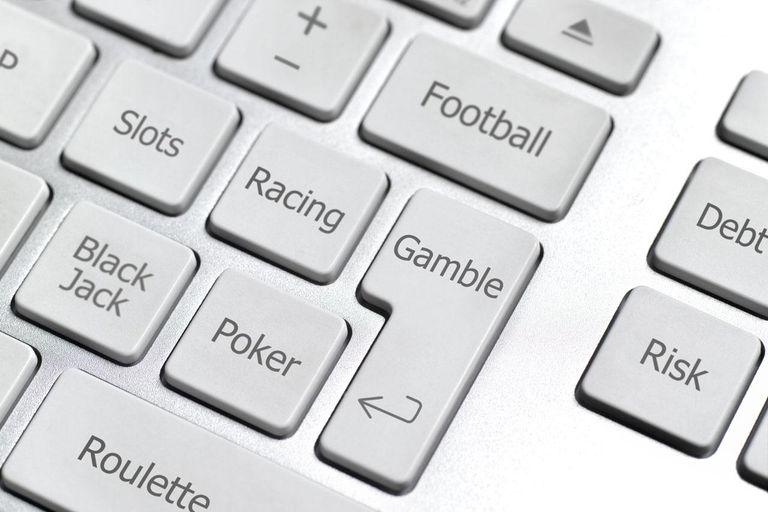 keyboard with gambling terms