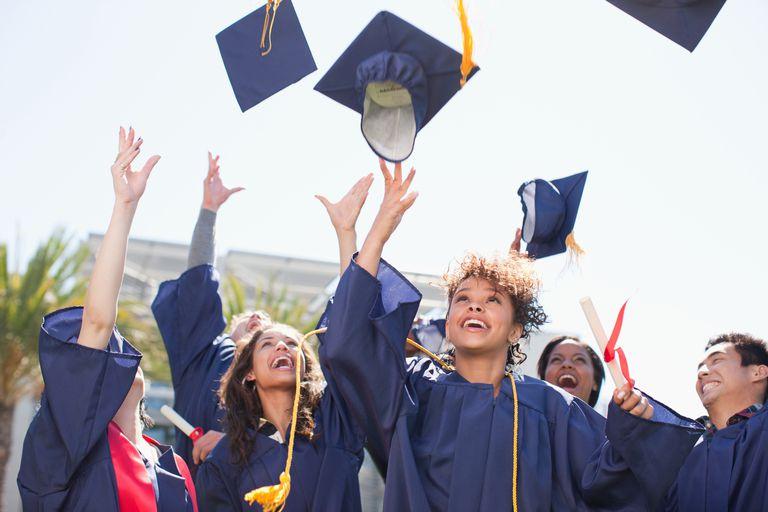 College Graduates Celebrating