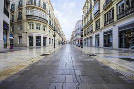 Shopping street in Spain