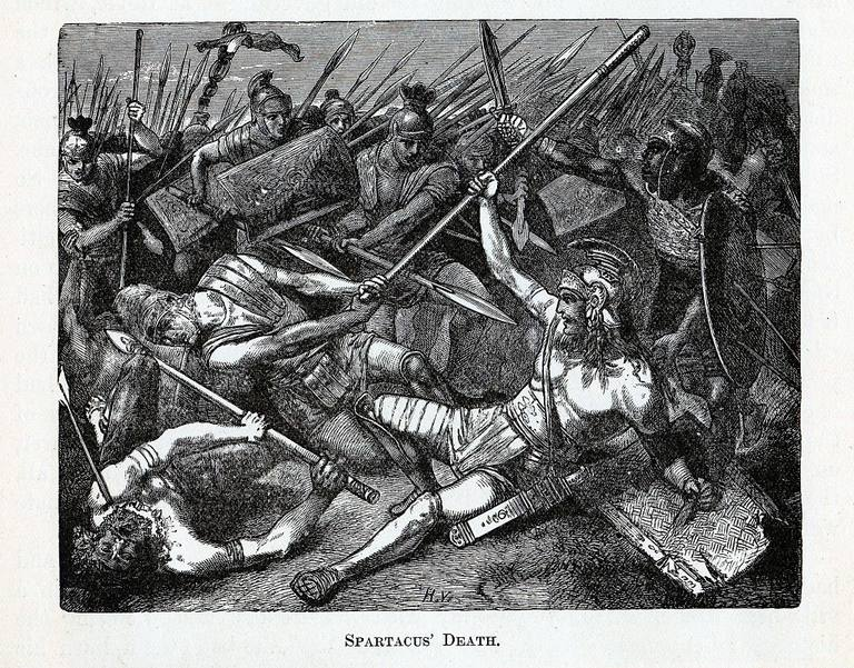Illustration of Spartacus' Death, 1882