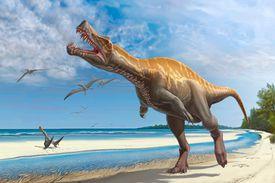 Digital illustration of the dinosaur, Irritator.