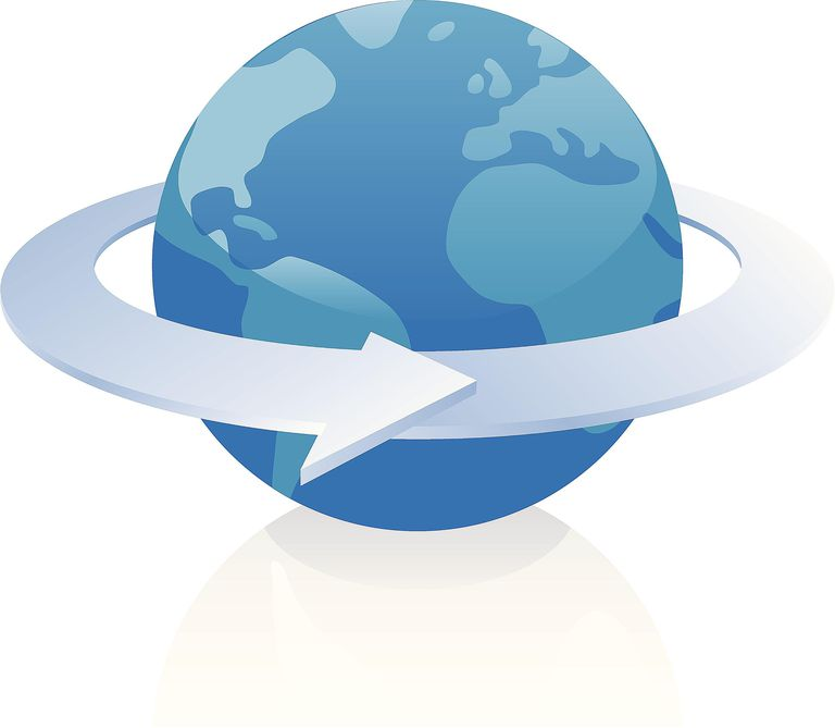 Picture showing the direction the Earth spins.