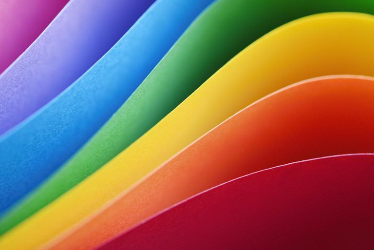 Layers of various colored papers