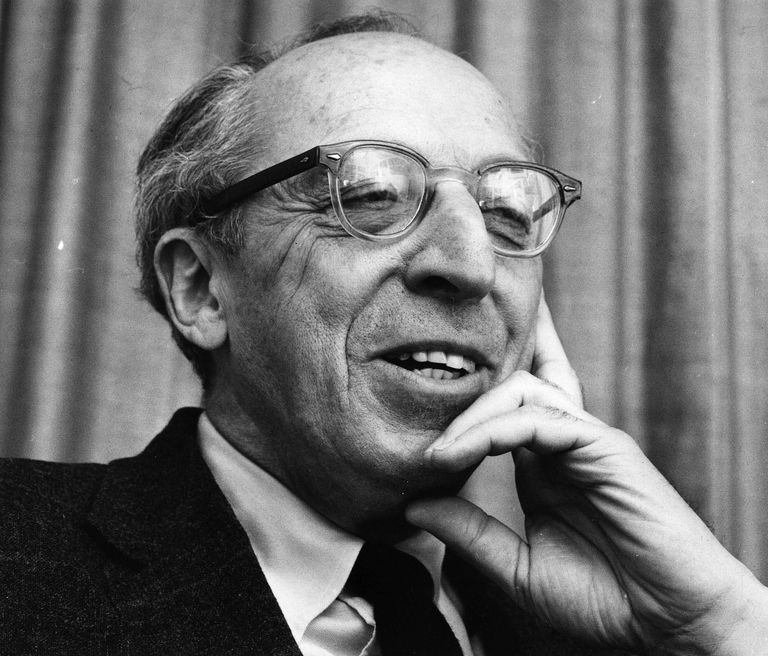 United States classical music composer, Aaron Copland, famous for his works including Appalachian Spring and Fanfare for the Common Man. (1900 - 1990)
