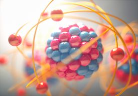 3D Illustration of an atom