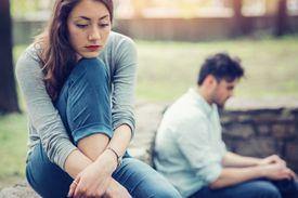 Couple going through a tough moment