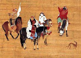 Kublai Khan on horseback