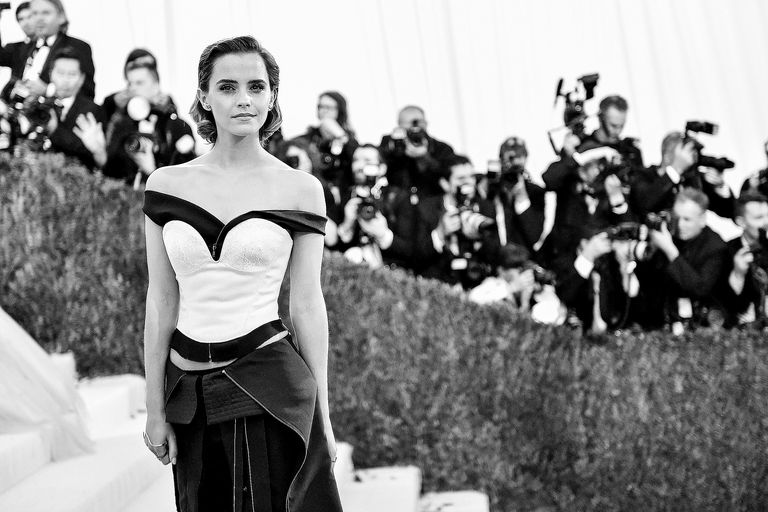 Emma Watson, pictured at the 'Manus x Machina: Fashion In An Age Of Technology' Costume Institute Gala, gave a speech at the UN in September 2016 about gender equality within higher education and the problem of rape culture on college campuses.