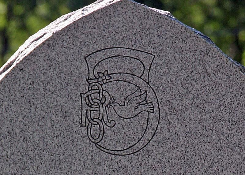 Symbol of the Daughters of Rebekah at Sheffield Cemetery in Warren County, Pennsylvania