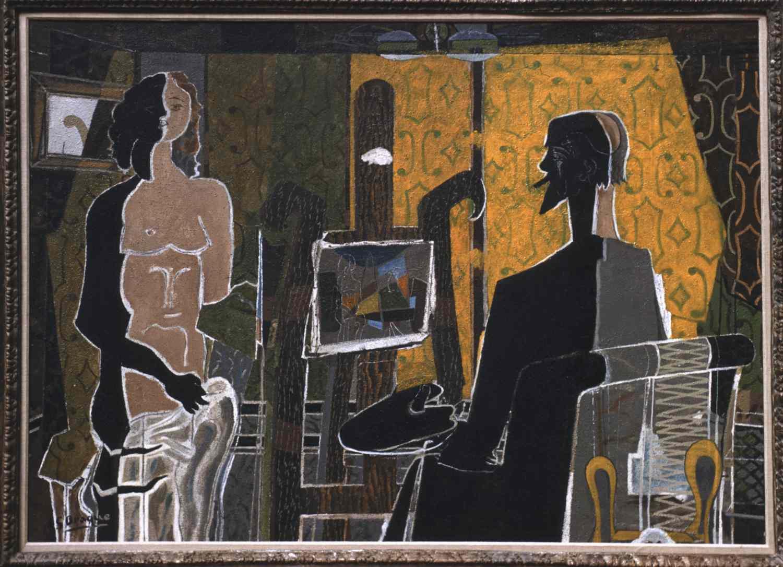 George Braque Maler und Modell