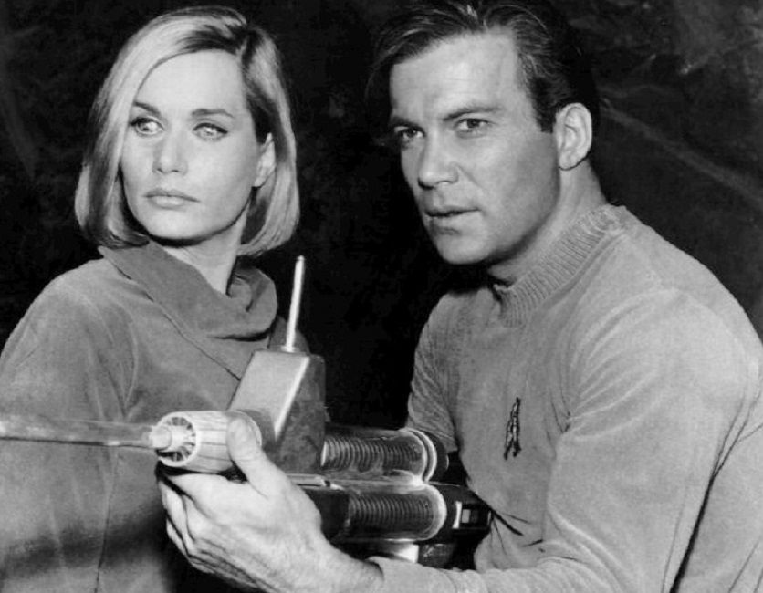 Sally Kellerman and William Shatner in a 1966 episode of