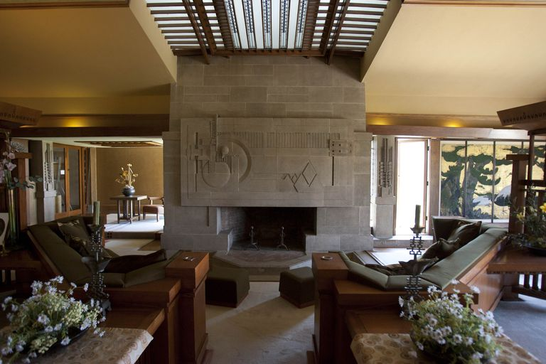 wright s architecture of space and interior designs
