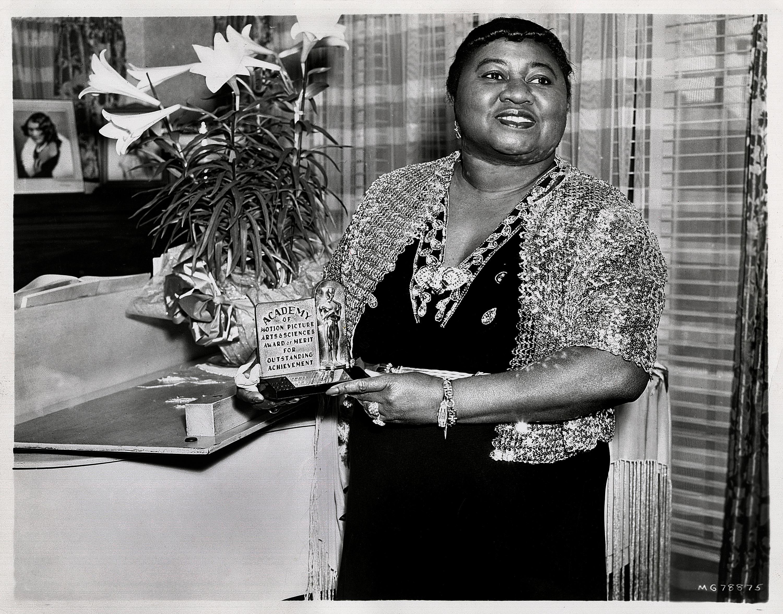 Hattie McDaniel, first Black American to win an Oscar, 1940