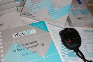 WISC-III Welchsler test materials.