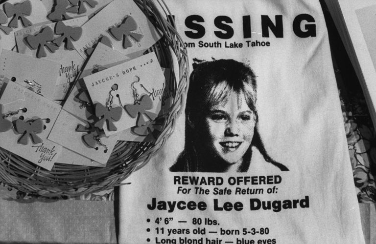 A missing poster for Jaycee Lee Dugard