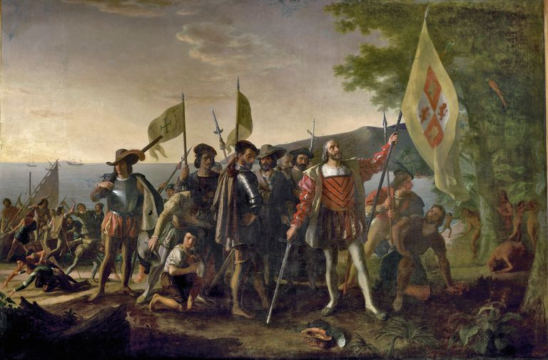 Painting of Christopher Columbus by John Vanderlyn