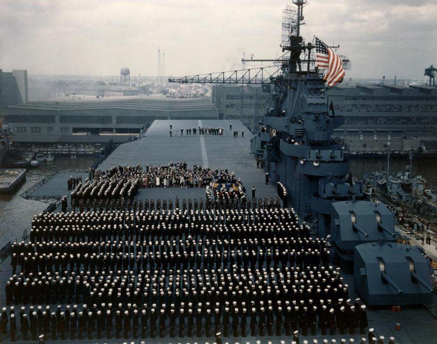 USS Yorktown (CV-10) commissioning, 1943