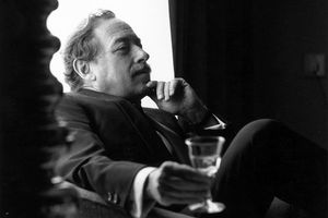 Tennessee Williams relaxing with a drink
