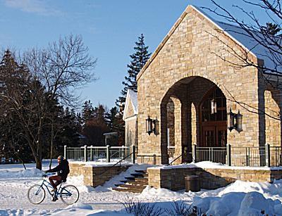 St. Lawrence University - Bike in front of Dana Dining Center