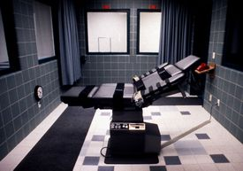 The execution chamber in the federal prison in Terre Haute, Indiana