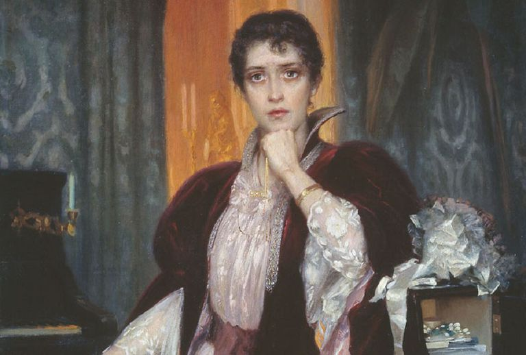 Painting of Anna Karenina by H. Manizer.