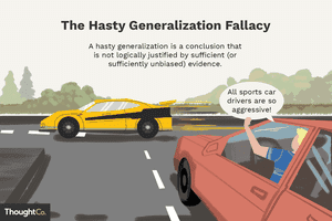 The hasty generalization fallacy