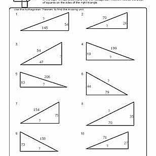 Pythagorean worksheet