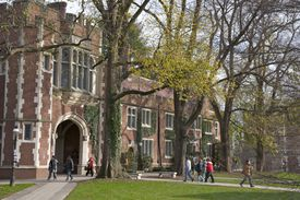 Students walking to classes at Princeton University