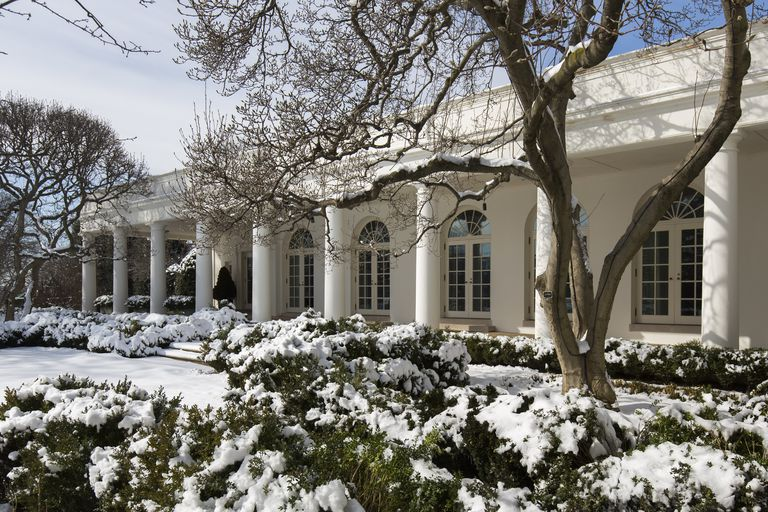 The White House Colonnade, Pathway to the Oval Office of the US President